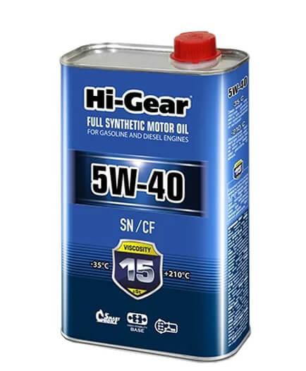 Hi-Gear 5W40 SN/CF 1 л