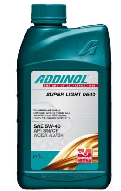 ADDINOL Super Light 0540 SAE 5W-40 1 л