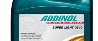 Масло ADDINOL Super Light 0540 SAE 5W-40: характеристики, отзывы