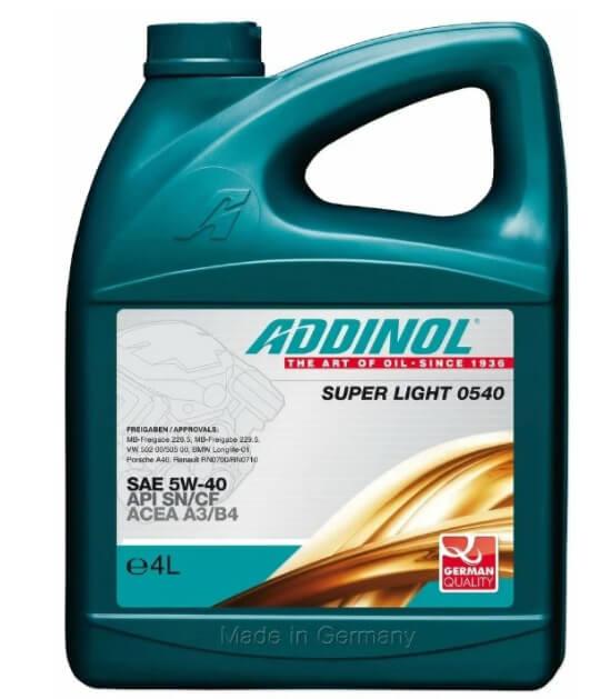 ADDINOL Super Light 0540 SAE 5W-40 4 л