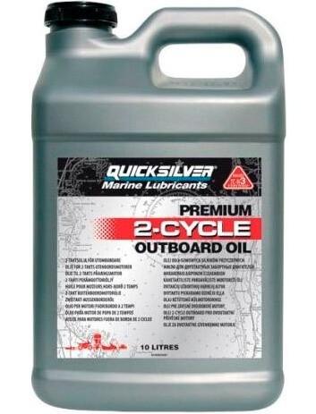 QUICKSILVER Premium 2-Cycle Outboard Oil TC-W3 10 л