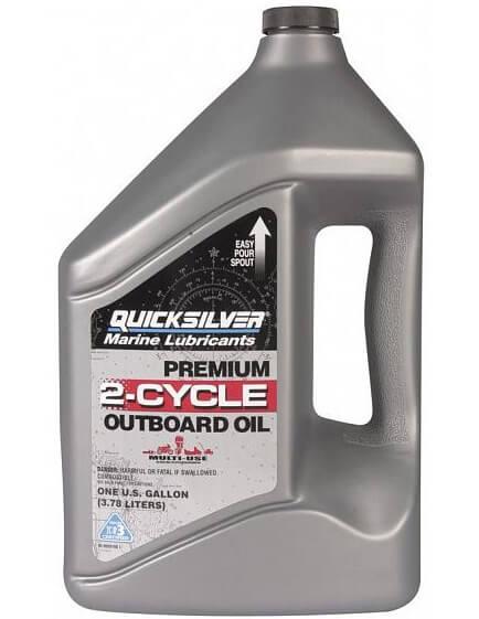 QUICKSILVER Premium 2-Cycle Outboard Oil TC-W3 4 л