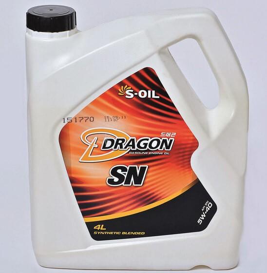 S-OIL Dragon SN 5W-40 4 л