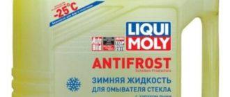 Жидкость для омывателя стекла LIQUI MOLY ANTIFROST Scheiben-Frostschutz, -25°С, 4 л, дыня