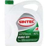 Антифриз Sintec EURO G11 готовый -40C зелёный 5 кг