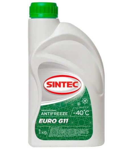 Антифриз Sintec EURO G11 готовый -40°C зелёный 1 л