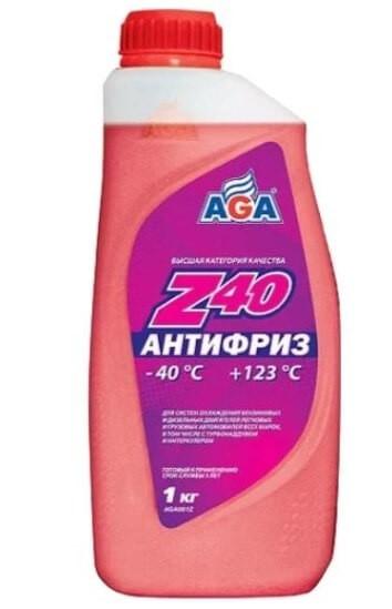 Антифриз AGA Z40, -40°C, красный 1 кг