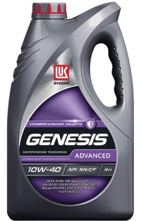 Лукойл Genesis Advanced 10W-40 4 л