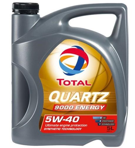 Total Quartz 9000 Energy 5W40 синтетическое 5 л