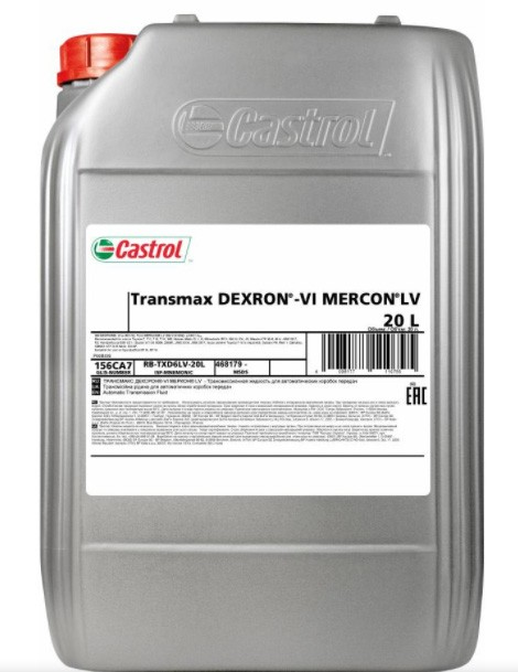 CASTROL Transmax Dexron VI Mercon LV 20 л