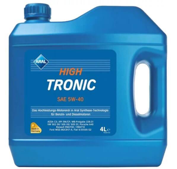 ARAL High Tronic SAE 5W-40 4 л