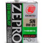 IDEMITSU Zepro Eco Medalist 0W-20 4 л