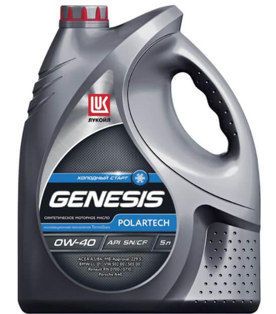 Лукойл Genesis Polartech 0W-40 5 л