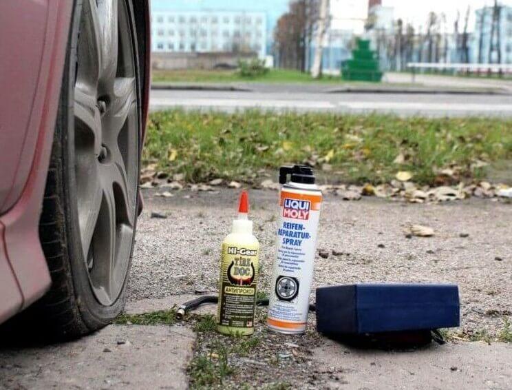 Автомобильный герметик для ремонта шин