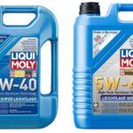 Моторное масло liqui moly Leichtlauf 5w40 и 10W40