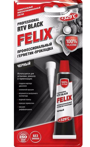 Герметик-прокладка черный FELIX Professional RTV Black, 411040059, 85 гр