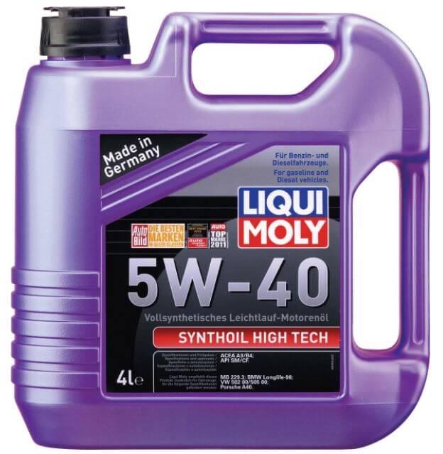 LIQUI MOLY Synthoil High Tech 5W-40 4 л