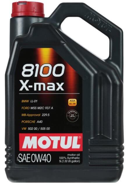 MOTUL 8100 X-max 0W-40 5 л