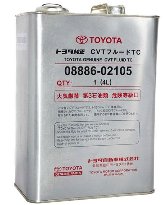 Toyota CVT FLUID TC 4 л
