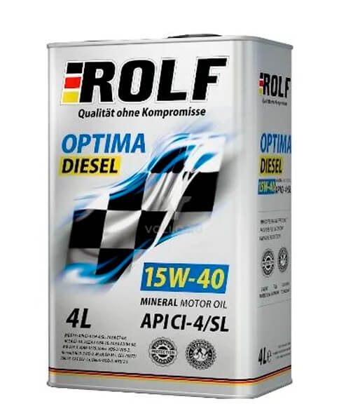 ROLF Оptima Diesel 15W-40 CI-4/SL 4 л