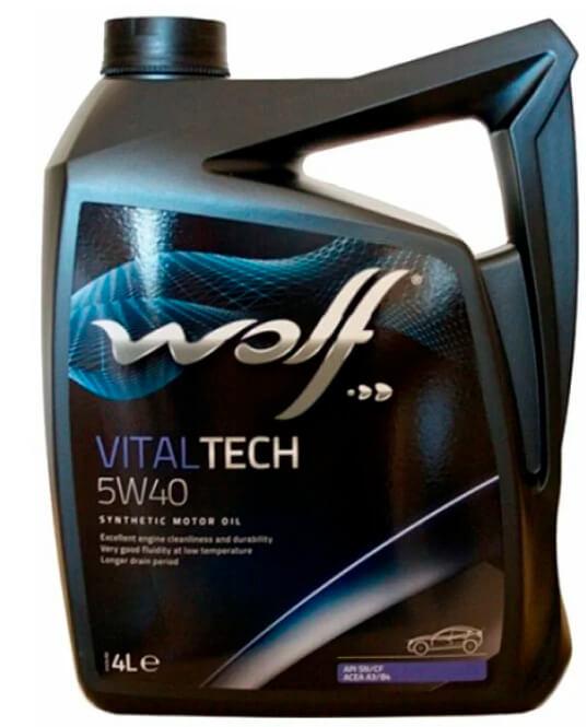 Wolf Vitaltech 5W-40 4 л