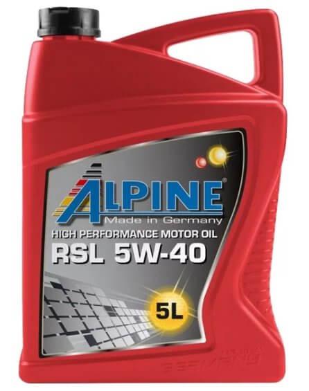 ALPINE RSL 5W-40 5 л