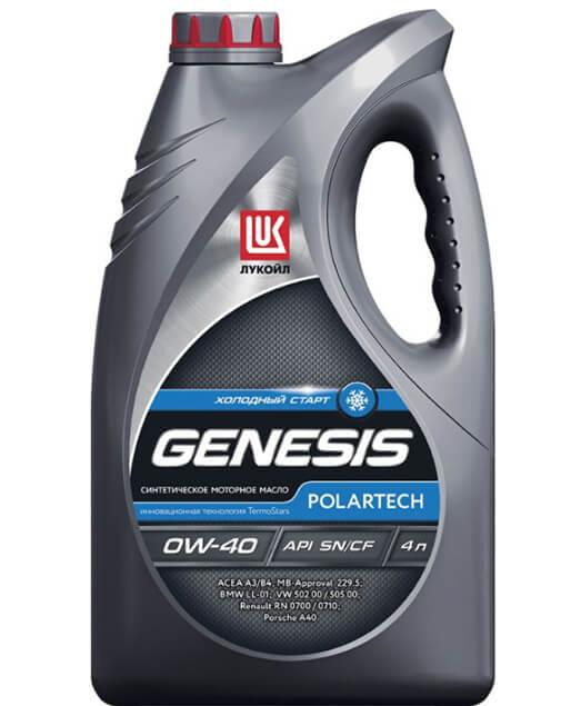 Лукойл Genesis Polartech 0W-40 4 л