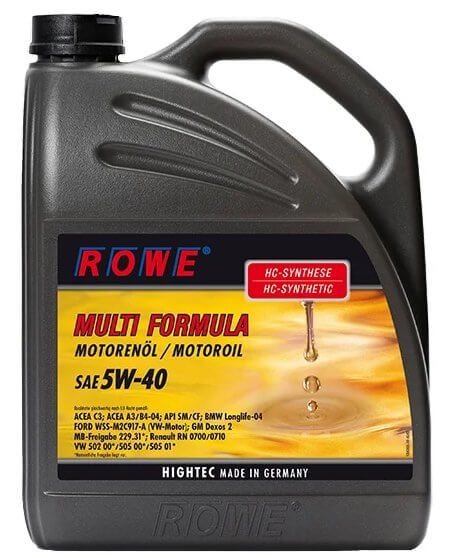 ROWE Hightec Multi Formula SAE 5W-40 5 л
