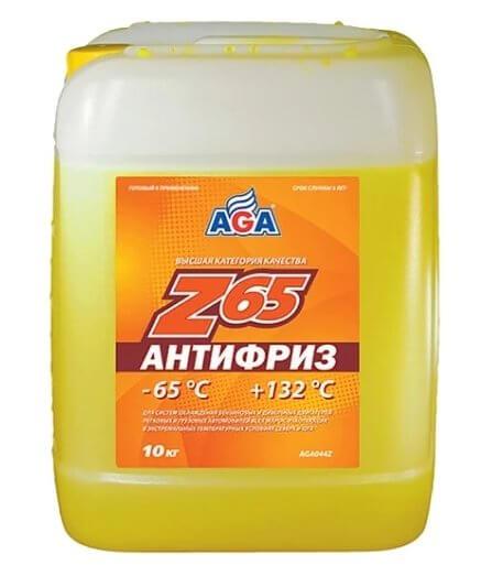 Антифриз AGA Z65, канистра 10 кг