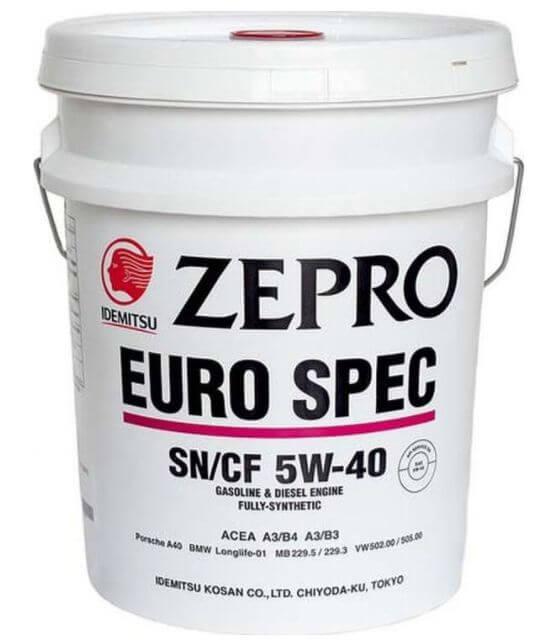 IDEMITSU Zepro Euro Spec 5W-40 20 л