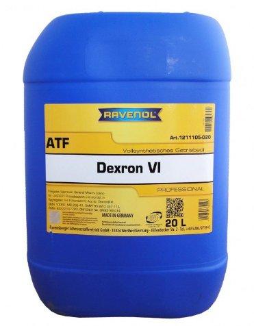 RAVENOL ATF Dexron VI, артикул 4014835732223, 20 л