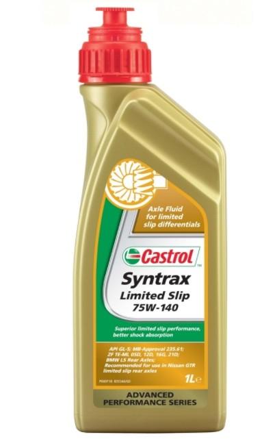 Castrol Syntrax Limited Slip, синтетическое, для мостов, класс вязкости 75W-140, 1 л