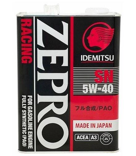 IDEMITSU Zepro Racing 5W-40 синтетическое, 4 л