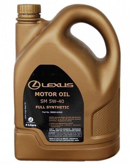LEXUS Motor Oil Full Synthetic SM 5W-40, 08880-82800, 4 л
