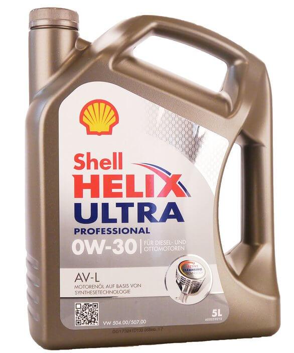 SHELL Helix Ultra Professional AV-L 0W-30 5 л