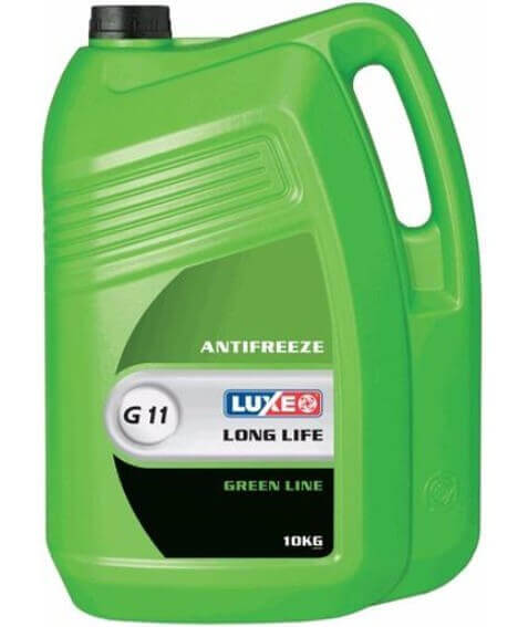 Антифриз LUXE Antifreeze Green Line G11, 10 кг