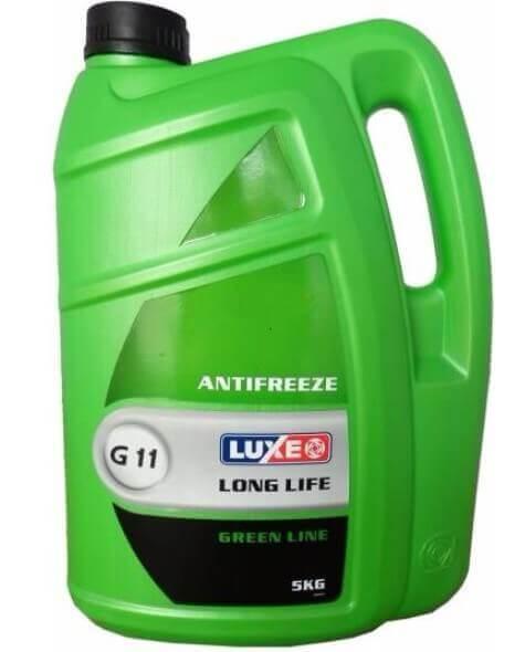 Антифриз зеленый LUXE Antifreeze Green Line G11, 5 кг