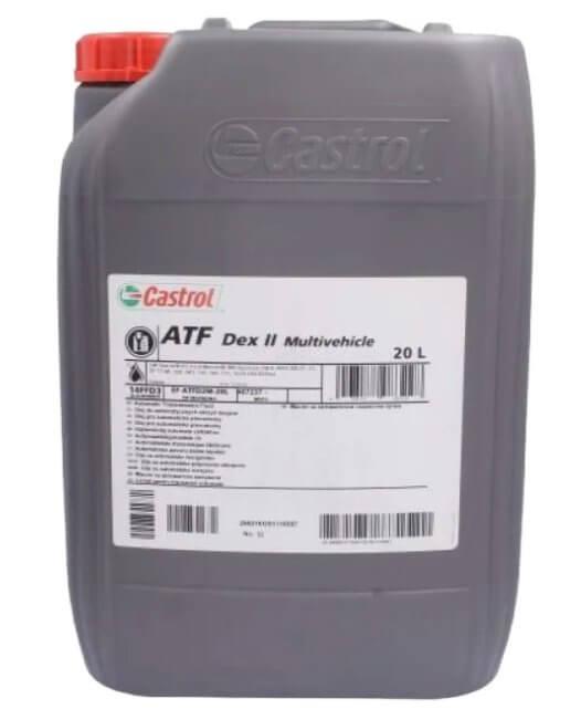 Castrol ATF Dex II Multivehicle, для автоматических КПП, 20 л