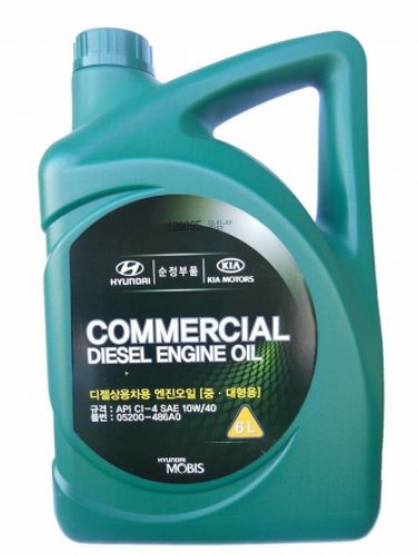 HYUNDAIKIA Commercial diesel engine oil 10W-40 полусинтетическое, 6 л