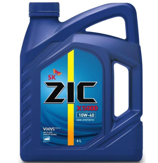 ZIC X5000, полусинтетическое 10W-40, 6 л. 172658