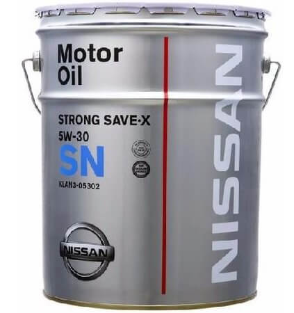 масло Nissan SN Strong Save X 5W-30 20 л