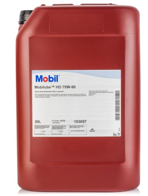 Mobil Mobilube HD SAE, 153057, синтетическое, 75W-90, 20 л