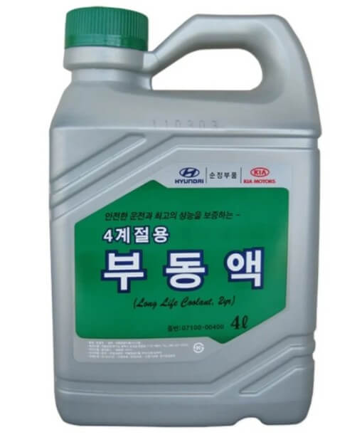 Антифриз HYUNDAI Long Life Coolant, зеленый, 4 л