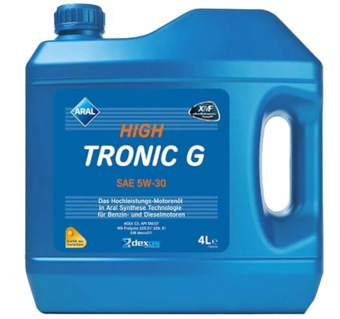 масло ARAL High Tronic G SAE 5W-30 4 л
