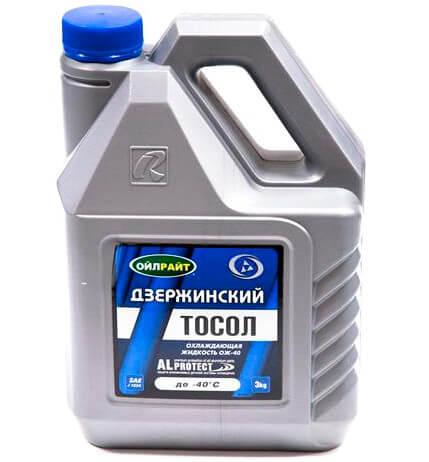 Антифриз OILRIGHT Тосол -40, 3 кг