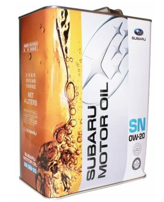 масло SUBARU SN 0W-20 4 л