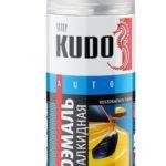 Краска автомобильная KUDO 601 Черный, алкидная 520 мл