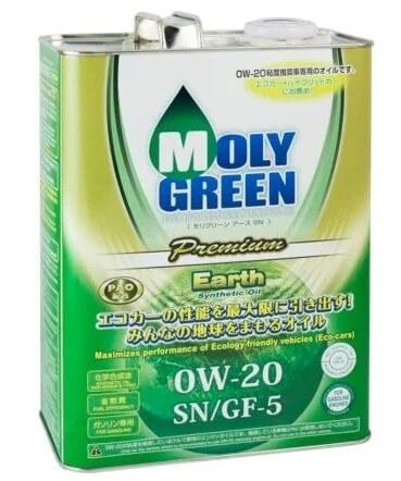 масло MolyGreen Premium Earth 0W-20 4 л