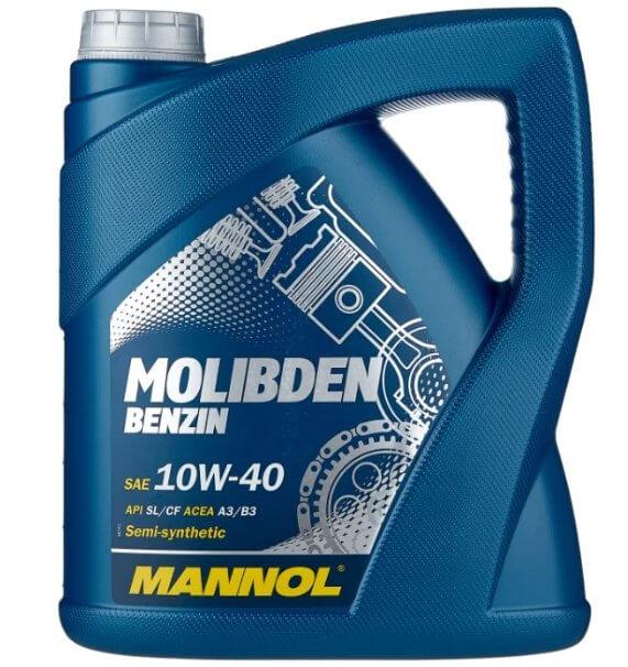 Полусинтетическое моторное масло Mannol Molibden Benzin 10W-40 4 л