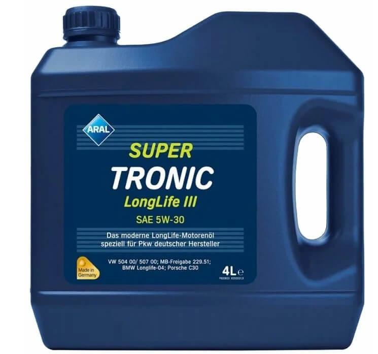 масло ARAL Super Tronic Longlife III SAE 5W-30 4 л
